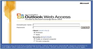 Customizing the Outlook Web Access Logon Page