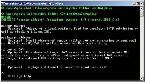 Microsoft Exchange Server SMTPDiag Tool
