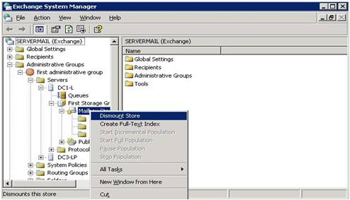 Exchange System Manager for Windows Vista