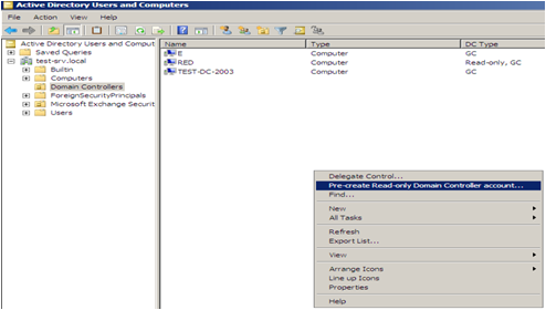Create Windows Server 2008 Read Only Domain Controller RODC To Ad
