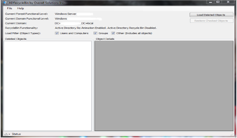 ADRecycleBin Gui Windows 2008 R2