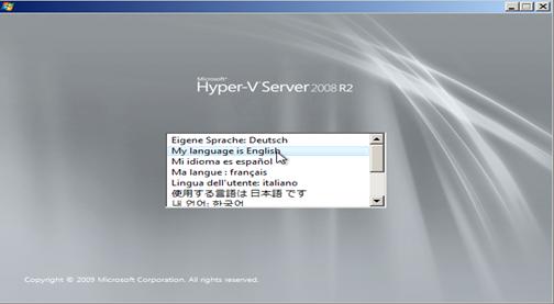 install Microsoft Hyper-V R2 Server 2008