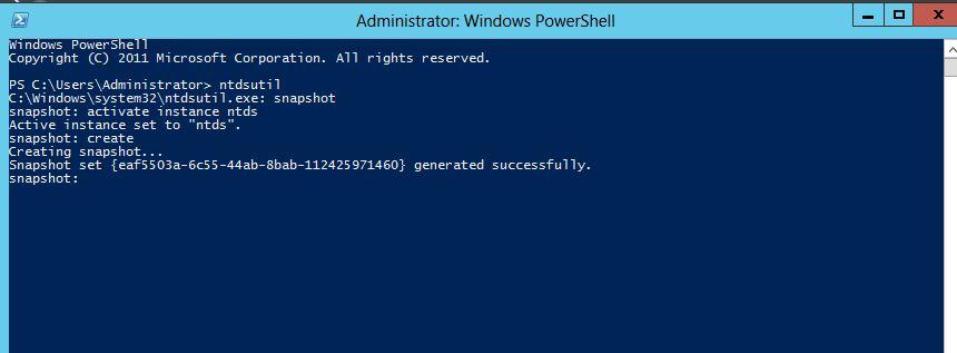 Windows Server 8 AD Snapshots
