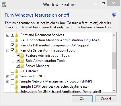 Remote Server Administration Tools for Windows 8