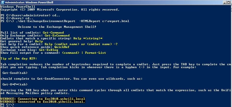 Generate Exchange Environment Reports Powershell