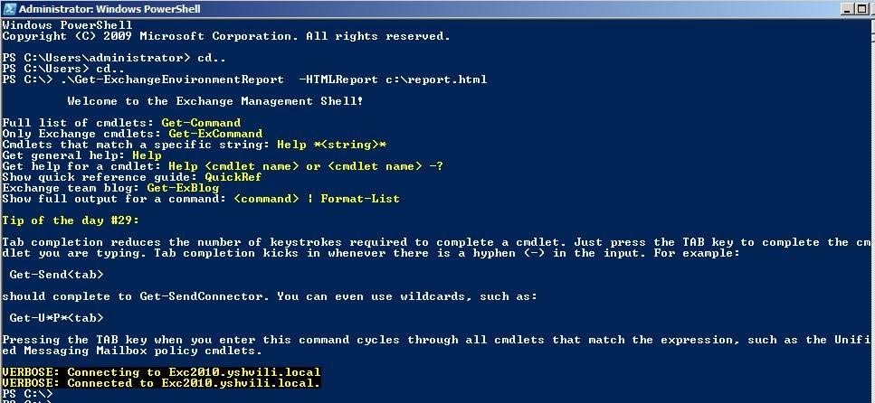 Generate Exchange Environment Reports Powershell