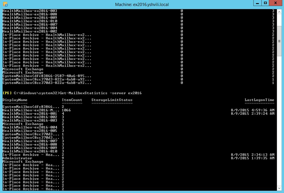 Find the mailbox sizes And Export Exchange 2013 PowerShell
