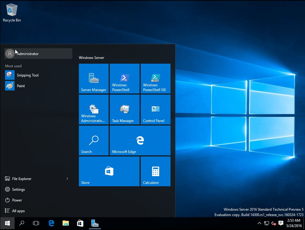 Install Windows Server Technical Preview 5