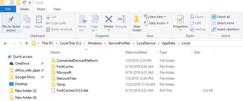 PresentationFontCache hogging CPU 50% windows 10